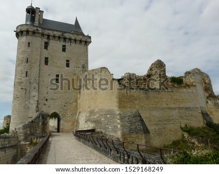 Medieval Chateau de Chinon (Chinon Castle) in the Loire Valley region of France #1529168249