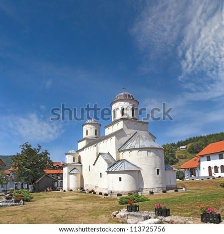 Medieval christian orthodox monastery Mileseva near Prijepolje, bulit in 1235. Serbia