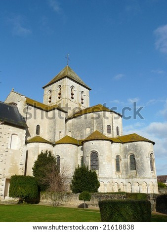 Medieval church and abbey at Saint Savin in France which includes frescoes that are a UNESCO World Heritage site