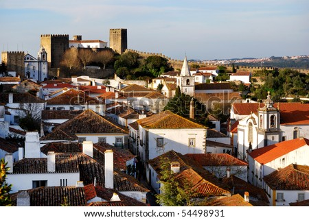Medieval city Obidos, Portugal