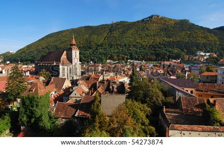 Medieval city of Brasov, Romania