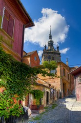 medieval city sighisoara in transylvania, romania
