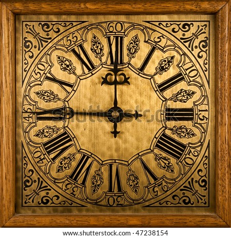 Medieval clock face