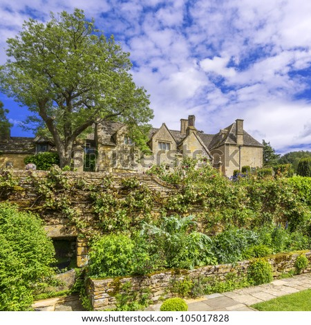 medieval elizabethan country house, cotswolds the uk
