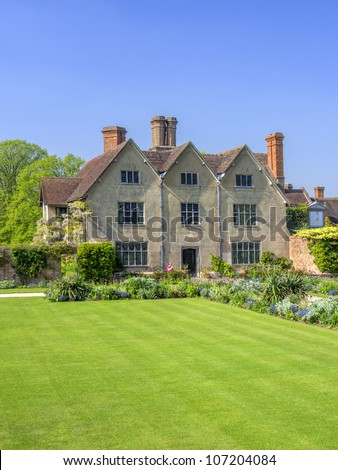 medieval elizabethan country house, warwickshire the uk
