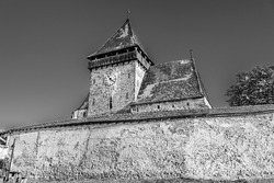 Medieval evangelical  saxon fortified church of Axente Sever village in Sibiu county, Transylvania, Romania; Saxon fortified church of Transylvania