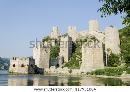 Medieval fortress on Danube river in Golubac, Serbia
