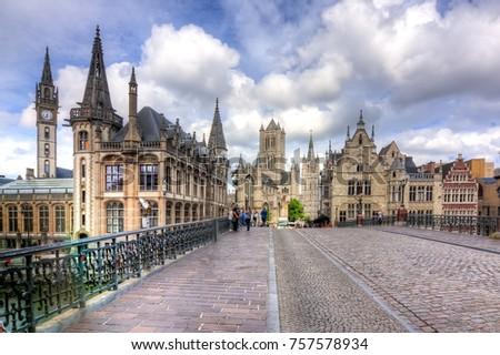 Shutterstock Medieval Gent, Belgium