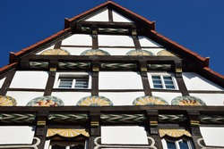Medieval half-timbered house in Hameln