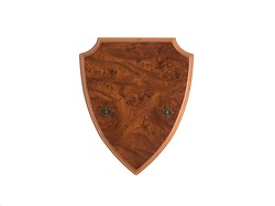 medieval heraldic shield isolated on white background