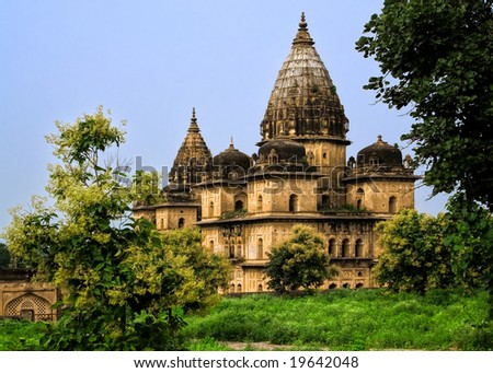 Medieval Hindu Temple in Orchha, Madhya Pradesh, India