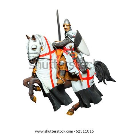 Medieval Knight On Horse Medieval knight - crusader