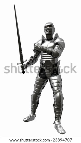 Medieval Knight in Shining Armour - Sword Back
