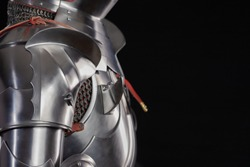 Medieval knightly armor, full set and details, made by an adult in full growth.