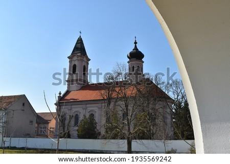Medieval Orthodox Monastery Fenek, Medieval Serbian Monastery from 15th century Stock fotó ©