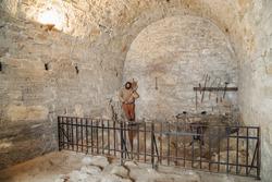Medieval prison in Baba Vida fortress, Bulgaria. Baba Vida is a medieval fortress in Vidin in northwestern Bulgaria and the town's primary landmark.