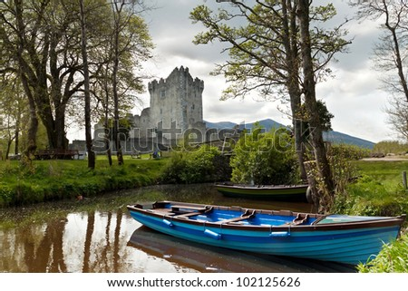 Medieval Ross castle in Killarney - Ireland