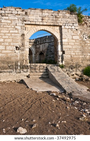 Medieval Ruins at the Baba Vida Fortress in Vidin, Bulgaria.