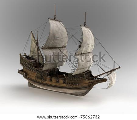 medieval sail ship