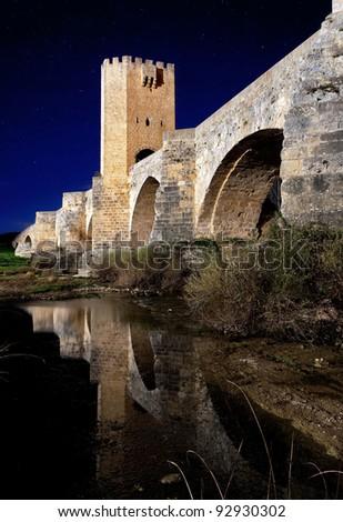 medieval stone bridge built in Europe