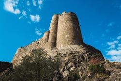 Medieval tower in France: Lastours Castle