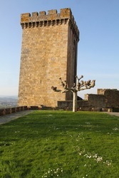 Medieval tower in State run hotel  Monforte de Lemos, Lugo, Spain