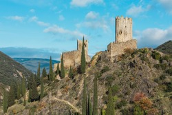 Medieval towers in France: Lastours Castles