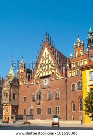 Medieval town hall of Wroclaw (Breslau), Poland