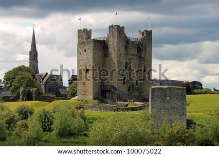 Medieval Trim Castle in County Meath, Ireland