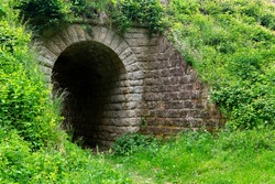 Medieval tunnel in the park