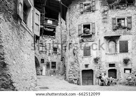 medieval village, canale di tenno, trentino, Italy june 03 2017: canale di tenno, trentino, Italy  #662512099