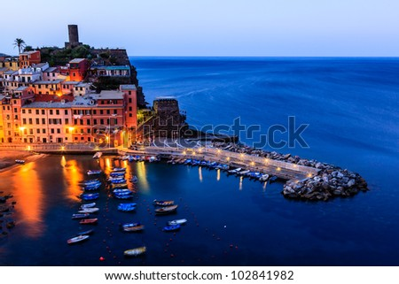 Medieval Village of Vernazza in the Morning, Cinque Terre