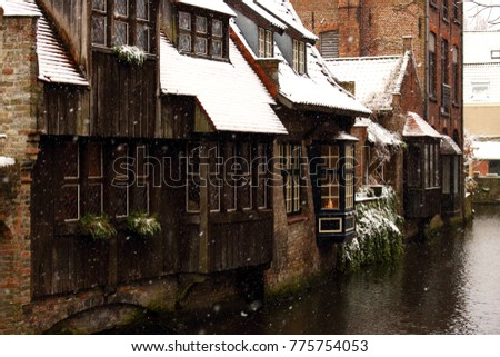 medieval wooden and brick...