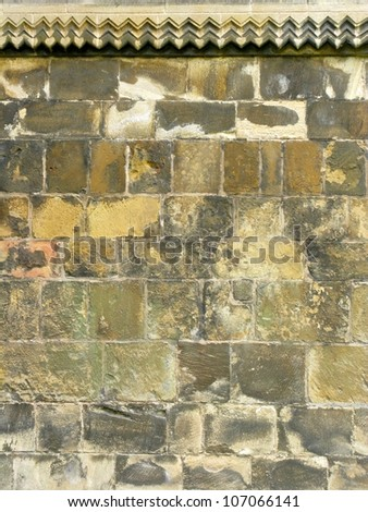 Medievel or gothic church wall in England