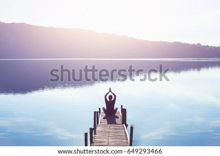 meditation and yoga background #649293466