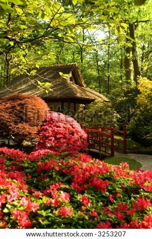 meditation area in japanese garden