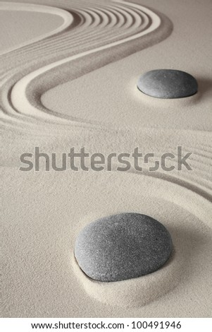 meditation background japanese zen garden tao buddhism concept for relaxation spirituality harmony and concentration conceptual for spa and wellness treatment - stock photo