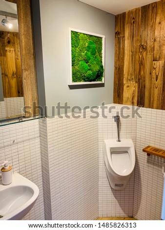 Meditation Center Studio Interior Design Wood Moss Natural Calming Environment