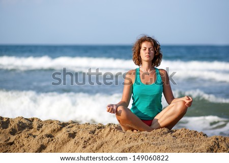 Meditation on the Beach, black-and-white