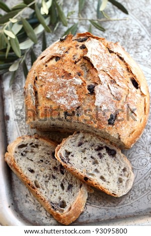 Mediterranean Black Olive Bread Stock Photo 93095800 : Shutterstock