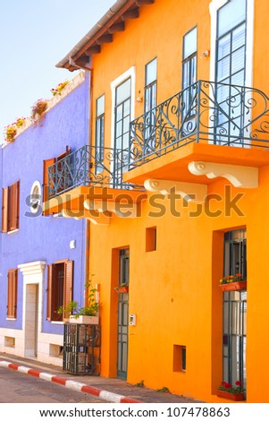 Mediterranean colorful houses