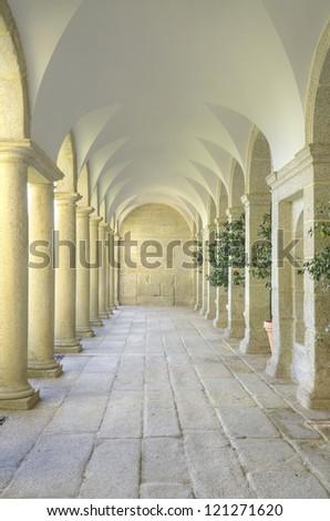 Mediterranean court of columns #121271620