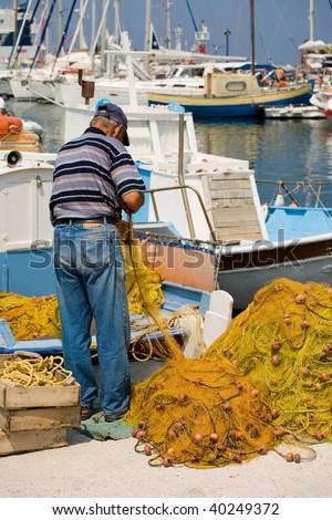Mediterranean fishermen's harbor