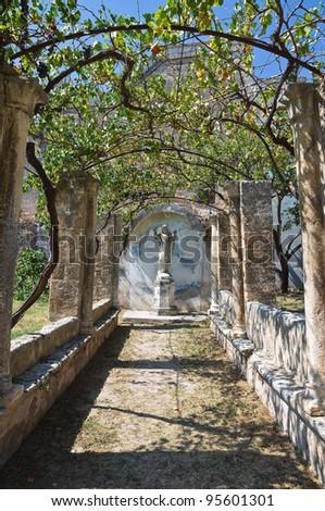 Mediterranean garden. Castle of Grottaglie. Puglia. Italy.