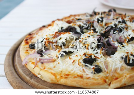 mediterranean pizza closeup
