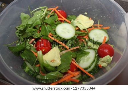 Mediterranean salad vegetables. #1279355044