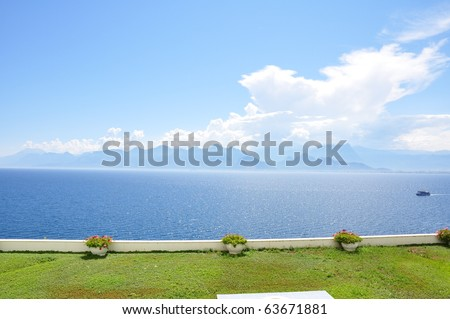 Mediterranean Sea Coast from Antalya, Turkey