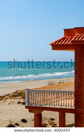 Mediterranean Sea hotel balcony view