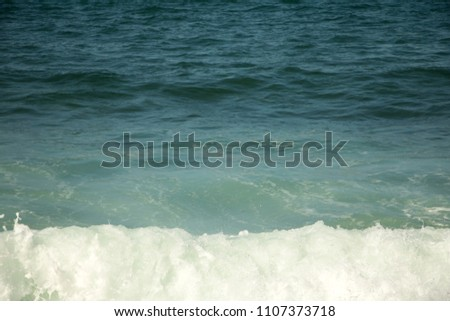 Mediterranean sea in storm with surf and spray  #1107373718