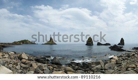 Mediterranean Sea (Panorama), Sicily, southern Italy